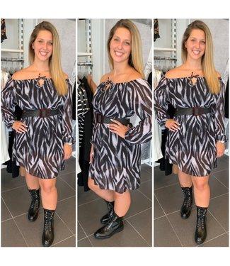 Off-Shoulder dress Zebra - ONESIZE