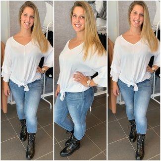 knoop blouse White - ONESIZE