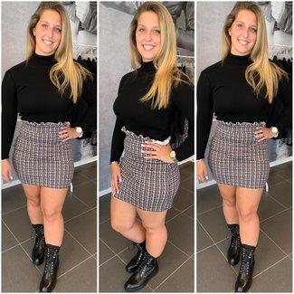 Copy of Stretch skirt red grey black
