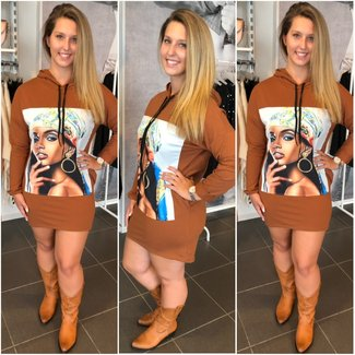 Sweater Dress Woman Camel - ONESIZE