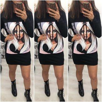 Sweater Dress Women Black - ONESIZE