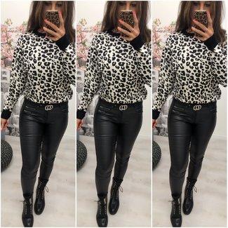 Sweater Leopard White - ONESIZE