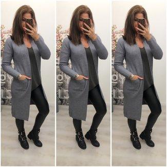 Long Classy Vest Grey