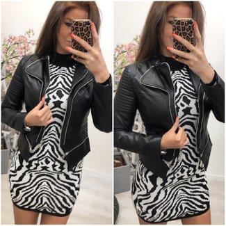 Leather Look Jacket Short