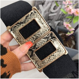 Taille Riem Gold Snake