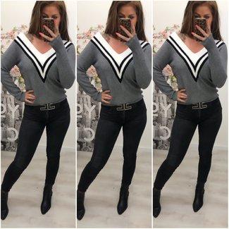 Super Soft Sweater V Grey