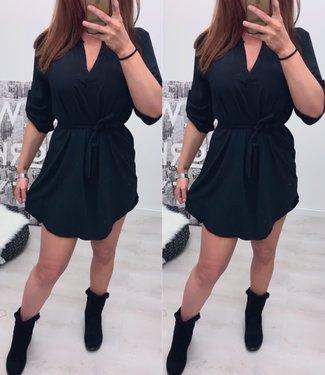 Blouse dress zwart - onesize