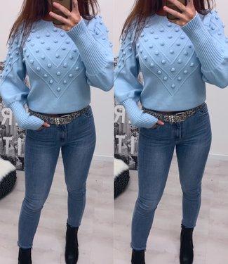 Classy sweater licht blauw - onesize