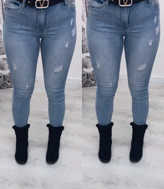 Damaged stretch jeans - Queen Hearts