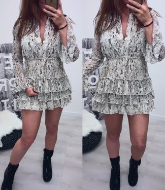 Classy dress Bruin groen