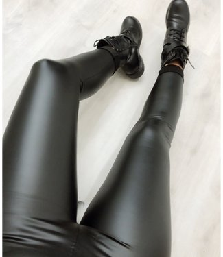 High Waist leather look legging