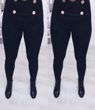 Classy broek extra high waist button