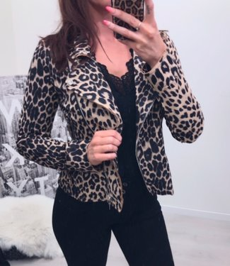 Classy Suedine leopard jackets stretch