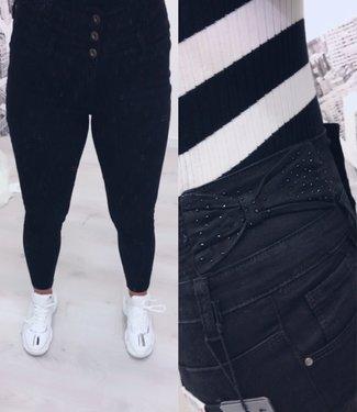 Extra high waist jeans bow (vallen klein)