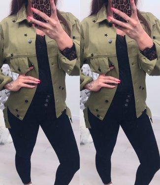 Star jacket Denim Green (vallen ruim)