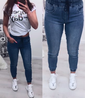 Queen hearts Jogging Jeans Blue