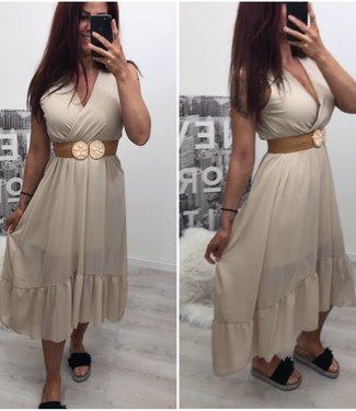 Beige Long Dress - ONESIZE