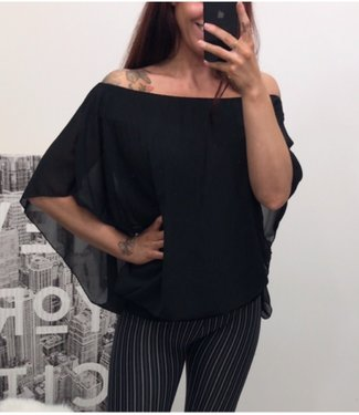 Blouse Oversized Black - ONESIZE
