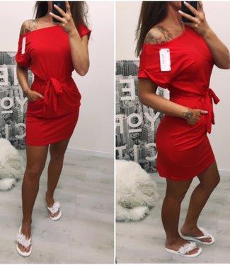 Bow dress rood - ONESIZE
