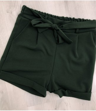 Bow shortje dark green - ONESIZE