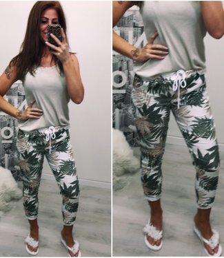 Stretch jogger blad groen - ONESIZE
