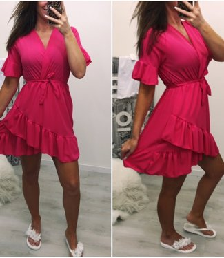 Ruffle dress pink - ONESIZE
