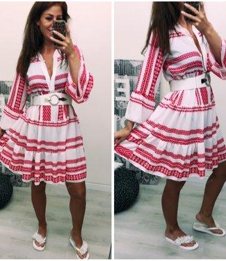Classy Oversized dress red white