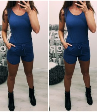 BASIC JUMPSUIT Jeans blue - ONESIZE