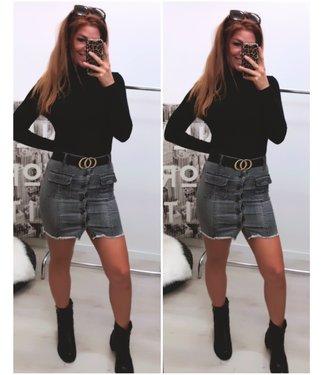 Stretch Spijker rok grijs