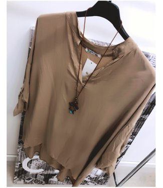Oversized Blouse Taupe