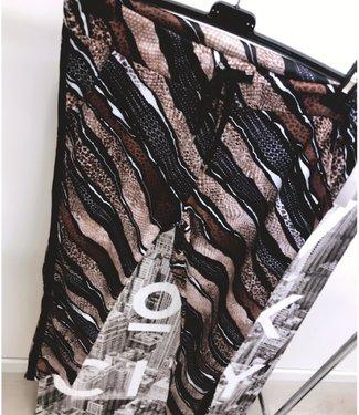 Print Jogger Brown Black - ONESIZE