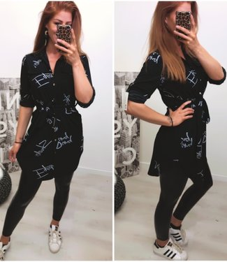 Blouse Dress Black - ONESIZE
