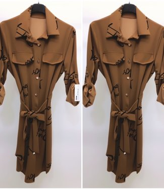 Blouse Dress Camel - ONESIZE