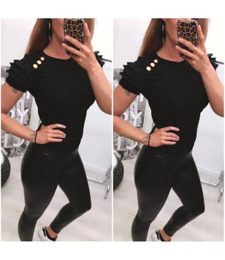 Button Top Black