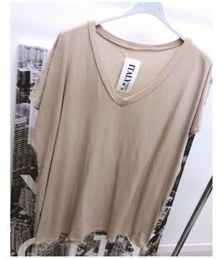 Oversized T-Shirt Beige - ONESIZE
