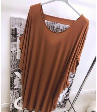 Oversized Tuniek Dress Camel - ONESIZE