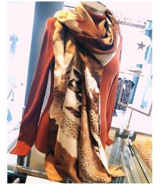 Lange Sjaal Camel Beige