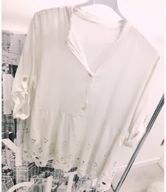 Oversized Top Creme wit