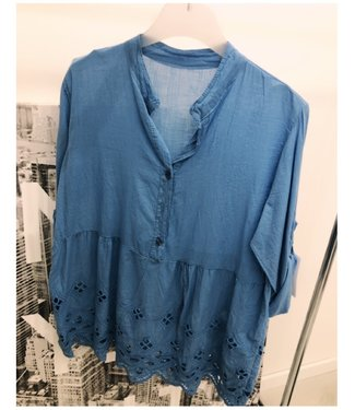 Oversized Top Light Blue
