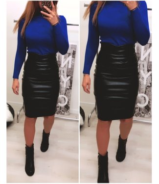 Leather Look Rok Stretch