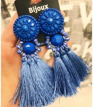 Oorbellen Kobalt Blauw