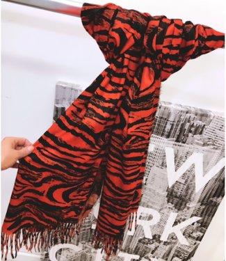 Sjaal Orange Zebra