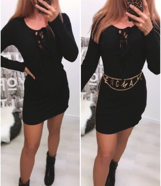 Gebreide Dress Black