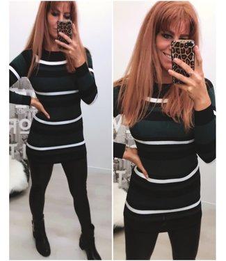 Short stretch dress green - ONESIZE