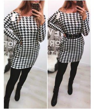 Dress / Tuniek Black White - ONESIZE