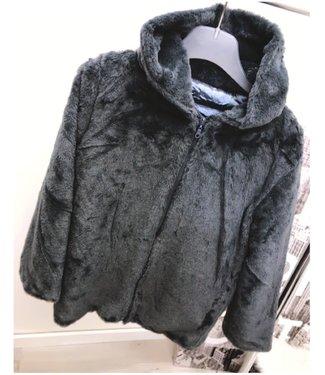 Fluffy Jacket Grey - ONESIZE