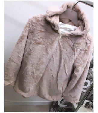 Fluffy Jacket Beige - ONESIZE