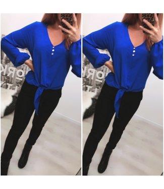Oversized blouse Kobalt - ONESIZE