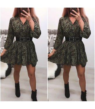 Dress Tuniek Leopard Green - ONESIZE