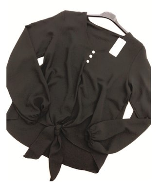 Blouse Black oversized - ONESIZE